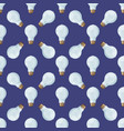 Cartoon lamps light bulb seamless pattern vector image