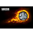 Soccer Fire Beckground vector image