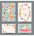 Invitation-Congratulation Card Set - for Wedding vector image
