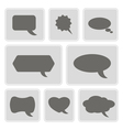 icons with bubbles for comics vector image