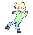 comic cartoon terrified man vector image