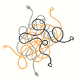 cable mess vector image vector image