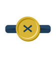 button in buttonhole isolated accessories for vector image