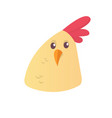 cartoon cute chicken icon vector image