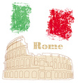 Colosseum in Rome vector image