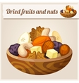 Detailed Icon Dried fruits and nuts vector image