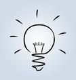 Line sketch of light bulb vector image