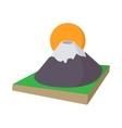 Mount Fuji icon cartoon style vector image