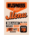 Restaurant menu typographic design vector image