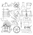 Science sketch icons vector image