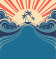 Tropical poster background vector image
