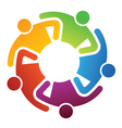 Teamwork share logo vector image
