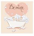 Valentin card - Bath for Lovers vector image