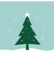 Retro winter Merry Christmas Tree vector image