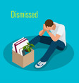 isometric 3d people dismissed vector image