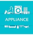 Flat modern kitchen appliances set icons concept vector image