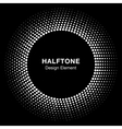 White Abstract Halftone Circle Logo Design Element vector image