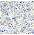 doodles on a notebook vector image vector image