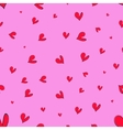 seamless pattern Red hearts vector image