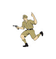 World War One British Officer Running Pistol vector image vector image