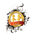 love label vector image