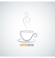 coffee cup ornate background vector image vector image