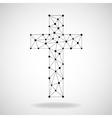Abstract cross Christian Symbol vector image