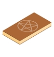 Book of black magic isometric 3d vector image