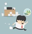 Businessman go vacation vector image
