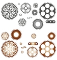 Collection of gears vector image