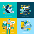 Flat Style UI icons for infographics vector image