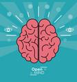 open mind human brain concept design vector image