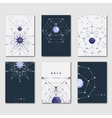 Set of abstract polygonal template for design vector image