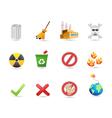 special icon for eco design vector image
