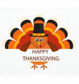 thanksgiving day colorful cartoon turkey bird vector image