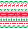 Sretan bozic - merry christmas in croatian and bos vector image