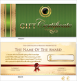 Green Gift certificate template vector image vector image