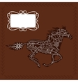 Horse background vector image vector image