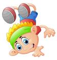 little boy break dance vector image