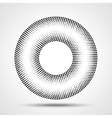 Black Abstract Halftone Circle Logo Design Element vector image