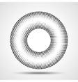Black Abstract Halftone Circle Logo Design Element vector image
