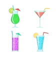 Cocktail glasses vector image