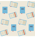 Flat Seamless Pattern School and Library Reading vector image
