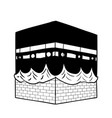 hand drawing kaaba of mecca - vector image