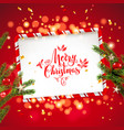 red background fir tree vector image