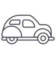 retro car line icon sign o vector image