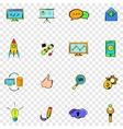 Seo set icons vector image