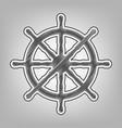 Ship wheel sign pencil sketch imitation vector image