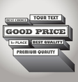 Good price vector image vector image