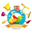 Cleaning Logo Business Composition vector image